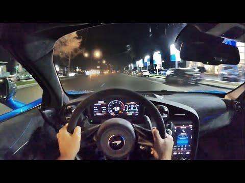 2021 McLaren 765LT POV Night Drive (3D Audio)(ASMR)