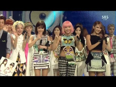 2NE1_0721_SBS Inkigayo_FALLING IN LOVE_No.1 of the Week