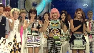 Repeat youtube video 2NE1_0721_SBS Inkigayo_FALLING IN LOVE_No.1 of the Week