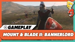 Mount & Blade II: Bannerlord - E3 2017 Cavalry Sergeant Gameplay | PC Gaming Show