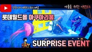 롯데월드 아쿠아리움에서 아들위한 서프라이즈 이벤트!! …