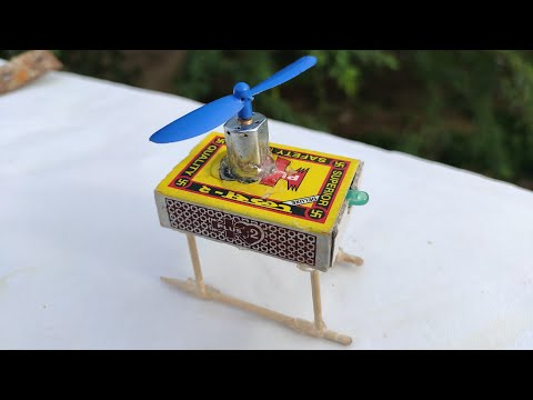 How to make Helicopter, Matchbox Helicopter Toy Drone 🚁🚁