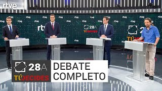 Debate a cuatro completo | #ELDEBATEenRTVE