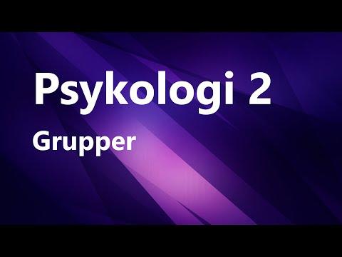 Psykologi 2   Grupper