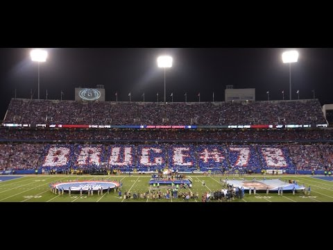 Buffalo Bills Bruce Smith Jersey Retirement Card Stunt