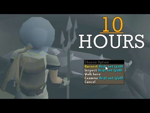 Loot From 10 Hours Of Drift Net Fishing (Fossil Island) 2018 - OSRS