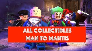 Lego DC Super Villains Man to Mantis Free Play 100% all Minikits and Collectibles