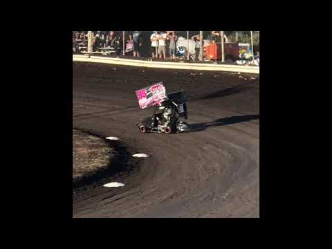 Strange Racing Team is qualifying in the 250cc Outlaw Cage Kart. - dirt track racing video image