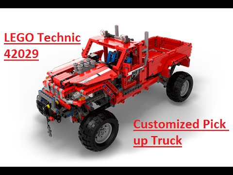 lego technic 42029 customized pick up truck model a. Black Bedroom Furniture Sets. Home Design Ideas