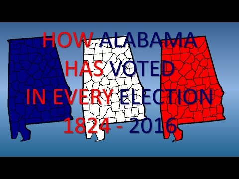 How Alabama has voted in every Presidential Election