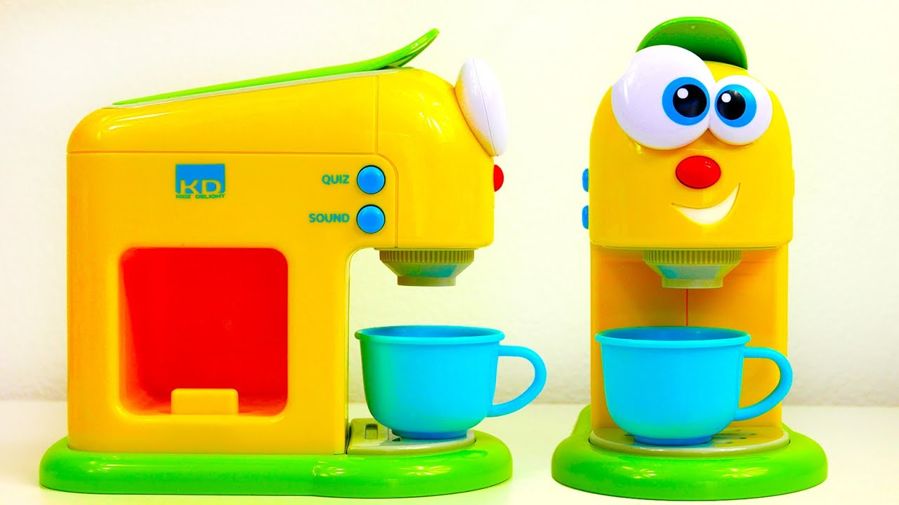 kids kitchen appliances microwave cart coffee maker machine appliance toy for youtube