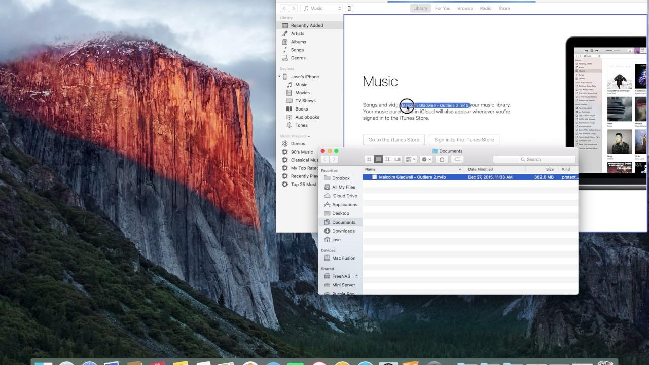 Add Audio Books to iBooks App on iPhone using iTunes