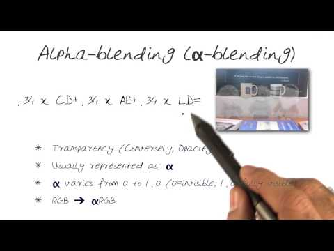 Alpha blending - YouTube