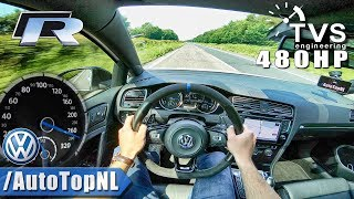 VW Golf R MK7 480HP | AUTOBAHN POV | ACCELERATION & SPEED by AutoTopNL