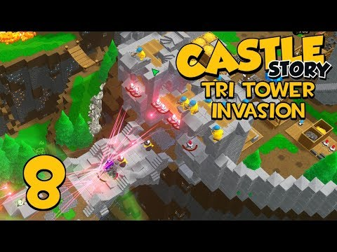 Castle Story Invasion on Tri Tower - Part 8 - FIRST WARLOCK
