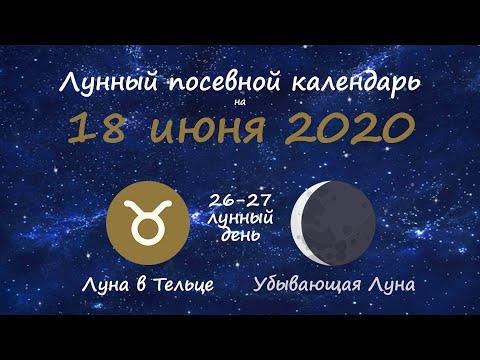 [18 июня 2020] Лунный посевной календарь огородника-садовода