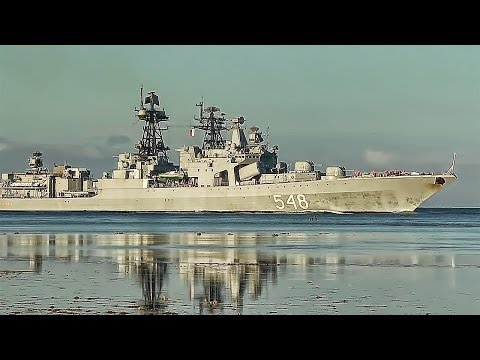 Russian Navy Destroyer Arrives At Pearl Harbor - Hawaii