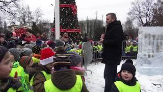 Ice Show przed ostrowskim Ratuszem - 21.12.2017