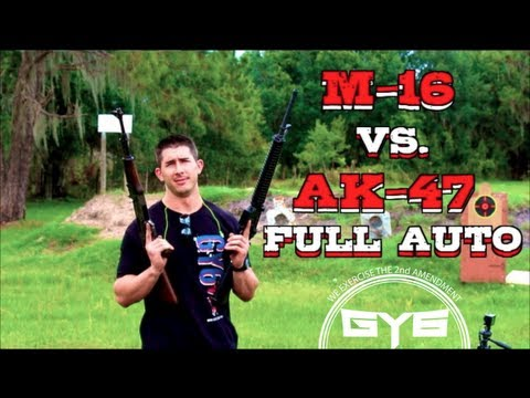 AK-47 vs. M16(AR-15) - Full Auto CQB