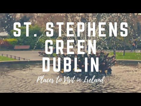 St. Stephen's Green Park Dublin - Ireland - Dublin City Centre Park Opened in 1880 - Green Dublin