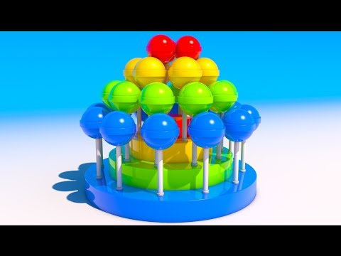 Thumbnail: Learning Colors with 3D Lollipops for Kids and Children Toddlers