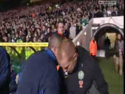 celtic v rangers neil lennon and sally mcmoist spat
