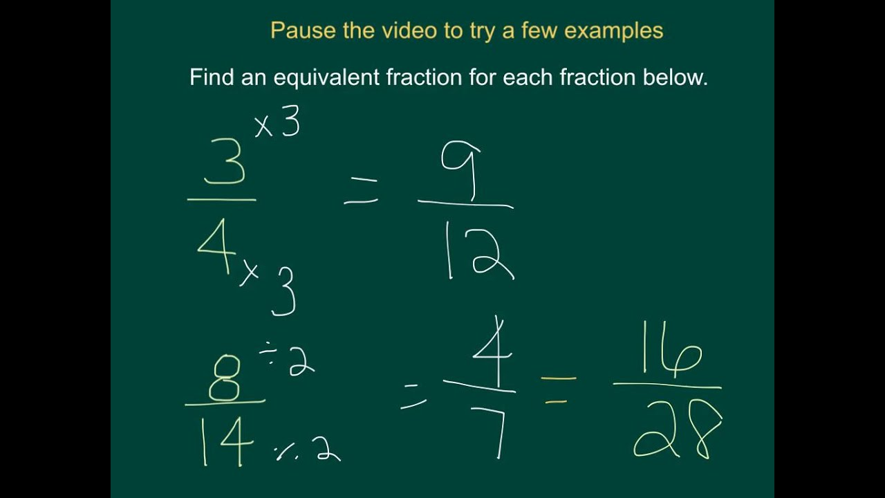 simplest form equivalent fraction examples  16-16 and 16-16 simplest form and equivalent fractions - YouTube