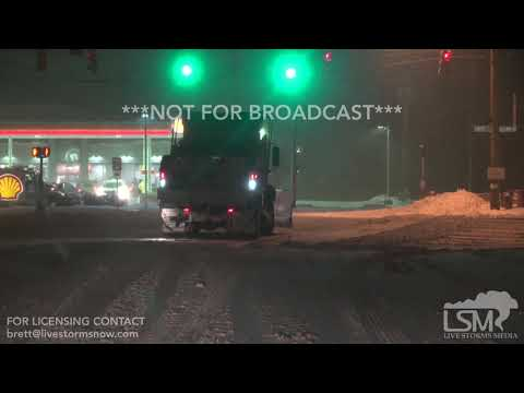 1-20-19 Ashtabula and Painesville, OH - Heavy Snow Spins Car into Median, Tries to get vehicle out