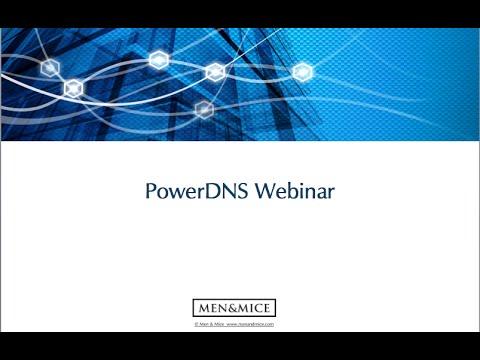 PowerDNS webinar