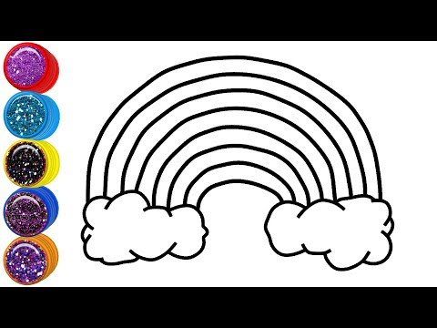 Glitter Rainbow Coloring Pages | Learn Colors for Kids | Mirza Colors Kids