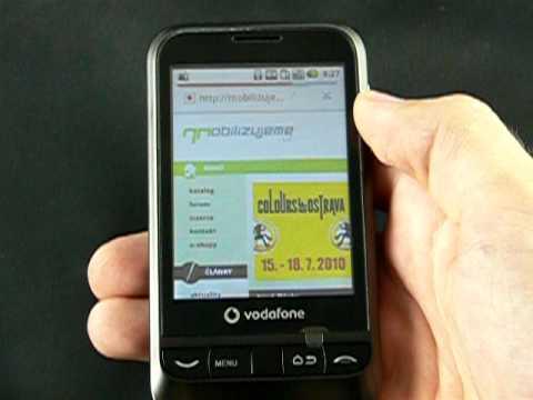 Vodafone 845 - internetový prohlížeč