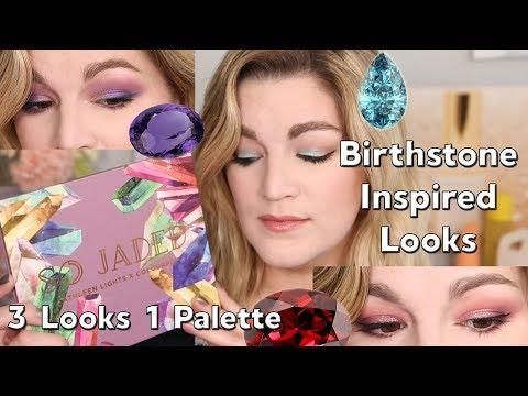 ColourPop X Kathleen Lights SO JADED ~ Birthstone Inspired Makeup ~ 3 LOOKS 1 PALETTE thumbnail