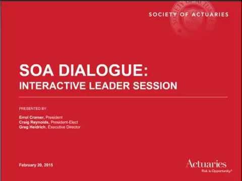 SOA Dialogue: Interactive Leader Session Webcast