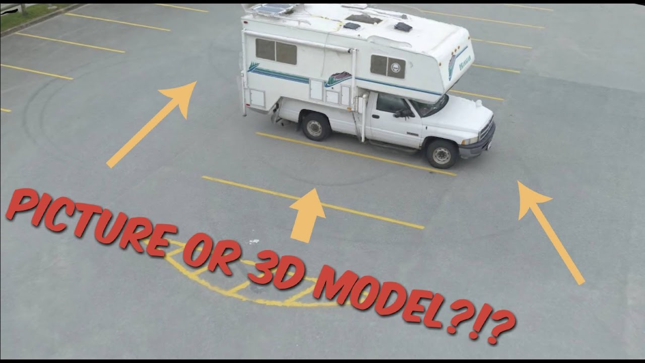 RV life - From photos to digital 3D model using Pix4d mapper/Mavic Pro