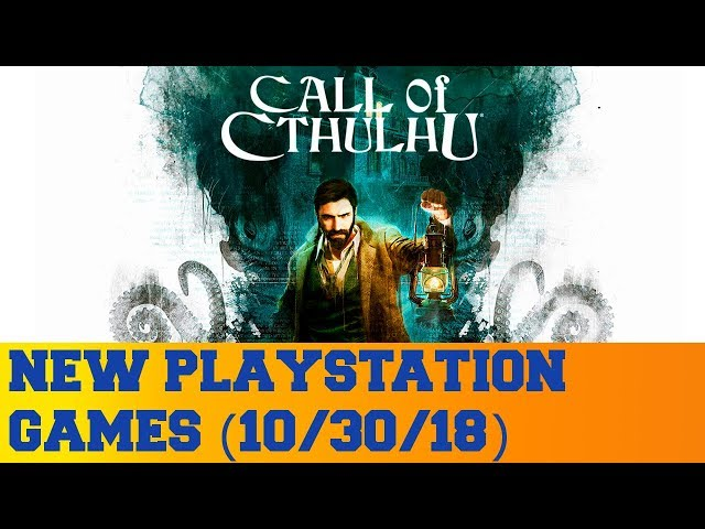 New PlayStation Games for October 30th 2018