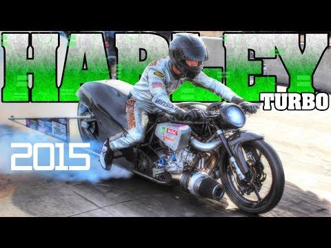 World's Fastest Turbo Harley Davidson Motorcycle Racing Man Cup 2015