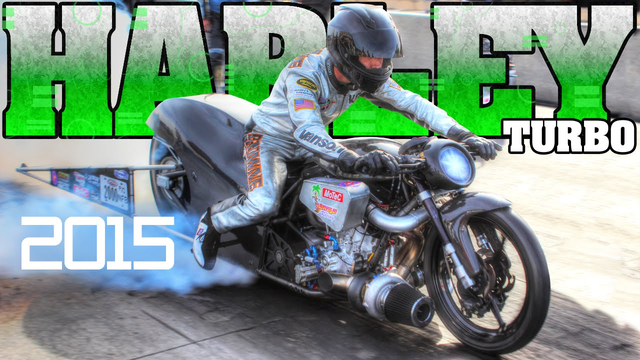 World's Fastest Turbo Harley Davidson motorcycle racing Man Cup 2015
