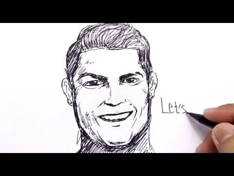 Very Easy How To Draw Ronaldo For Kids Learn How To Draw Youtube