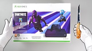 xbox-one-fortnite-special-edition-console-unboxing-dark-vertex-bundle-purple-limited-edition