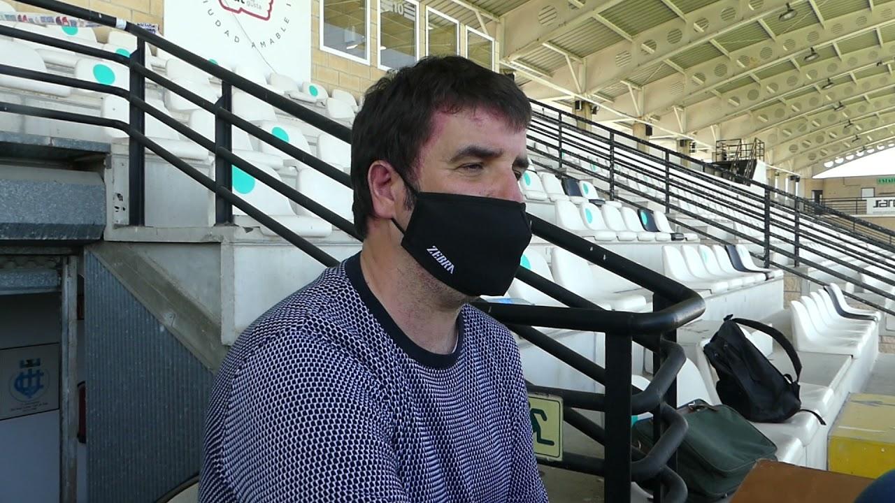 Jornada 22. Aitor Zulaika, tras el encuentro Real Unión-Bilbao Athletic