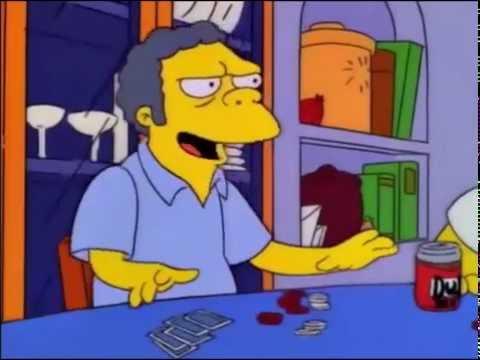 El garage, uh la la señor frances - Los Simpson