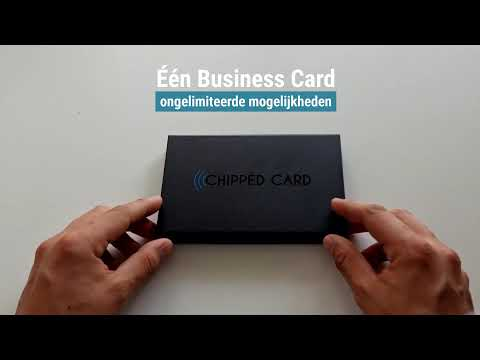 Chipped Card: Smart Business Card met NFC