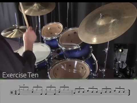 Learning Drums Lesson  8th note triplet blues grooves