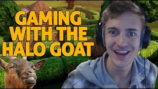 Gaming With The Goat?! - Fortnite Gameplay - Ninja