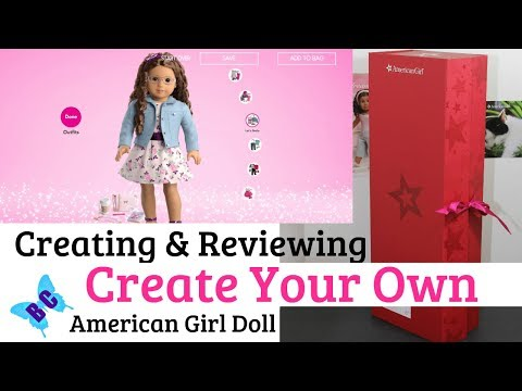 CREATE YOUR OWN Doll Opening & Reviewing | Jess Mold | American Girl Buterflycandy