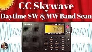C.Crane Skywave Shortwave Portable   Daytime SW & MW Band Scan