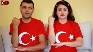 İşaret dili ile İstiklal Marşı  Mevlüt \u0026 Sevil
