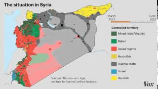 Карта Сирии 2014-2015 г. Syria map anim2