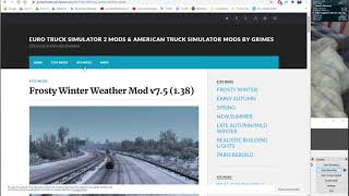 Where to Get the Winter Mod for ATS & ETS2, and How to Install It