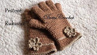 Ako uháčkovať prstové rukavice